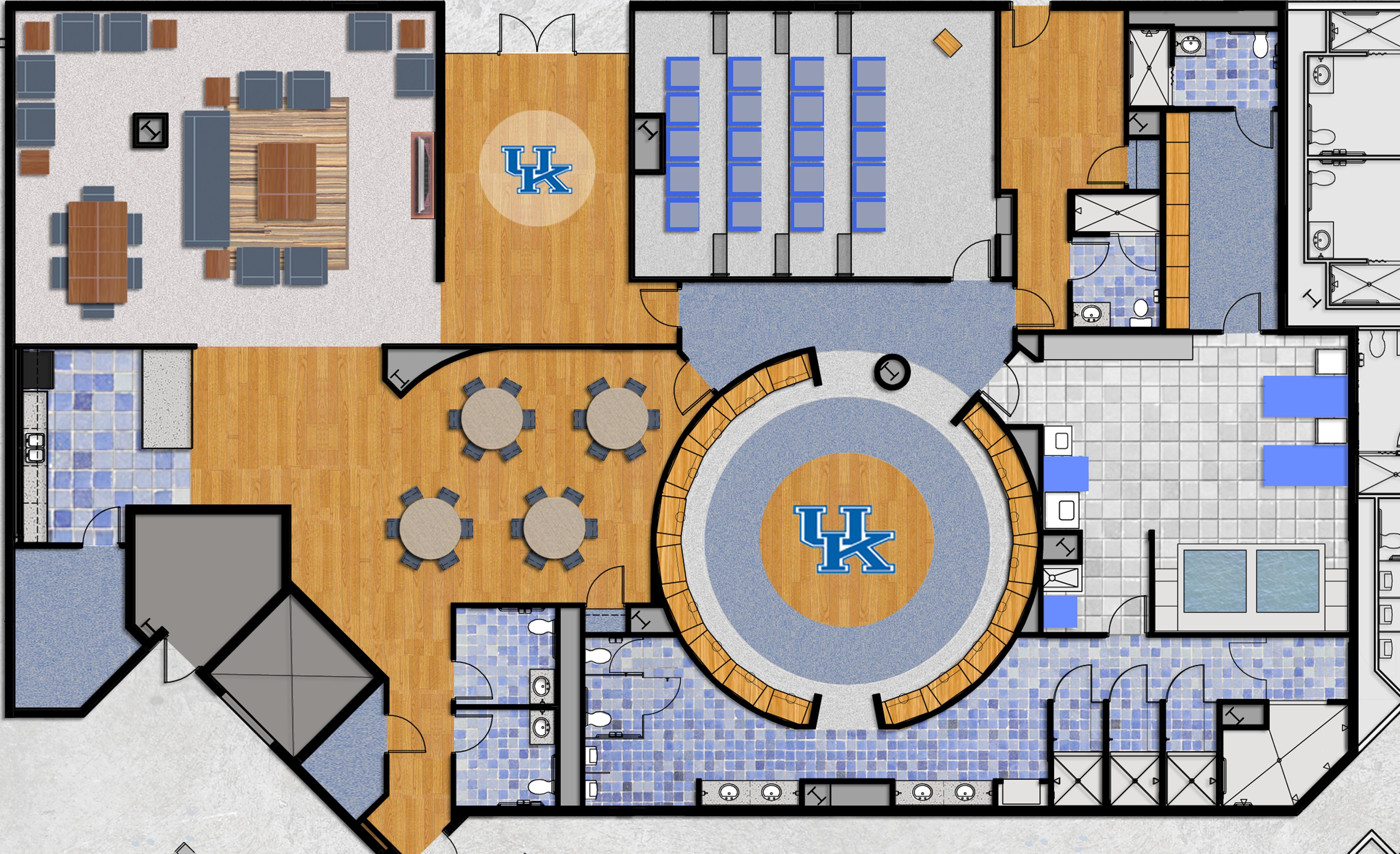 The big blueprint our locker room plans for rupp arena coach cal coach cal malvernweather Gallery