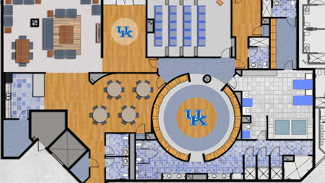 The big blueprint our locker room plans for rupp arena coach cal the big blueprint our locker room plans for rupp arena malvernweather Image collections