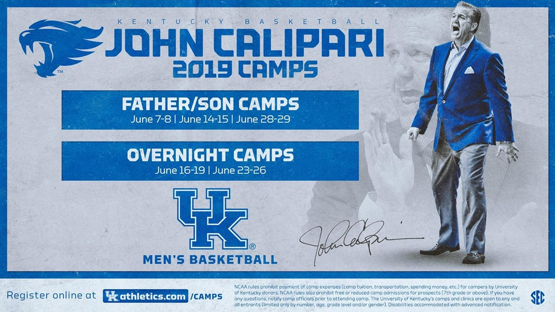 Spots still available in John Calipari Father/Son and