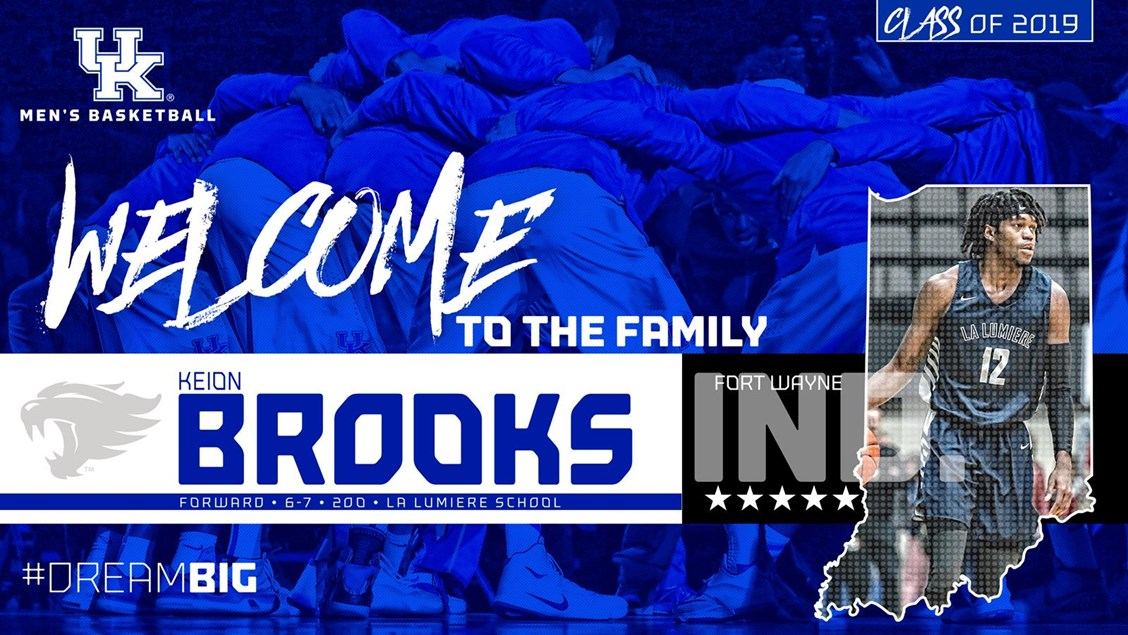 Five Star Prospect Keion Brooks Signs With Kentucky Coach Cal